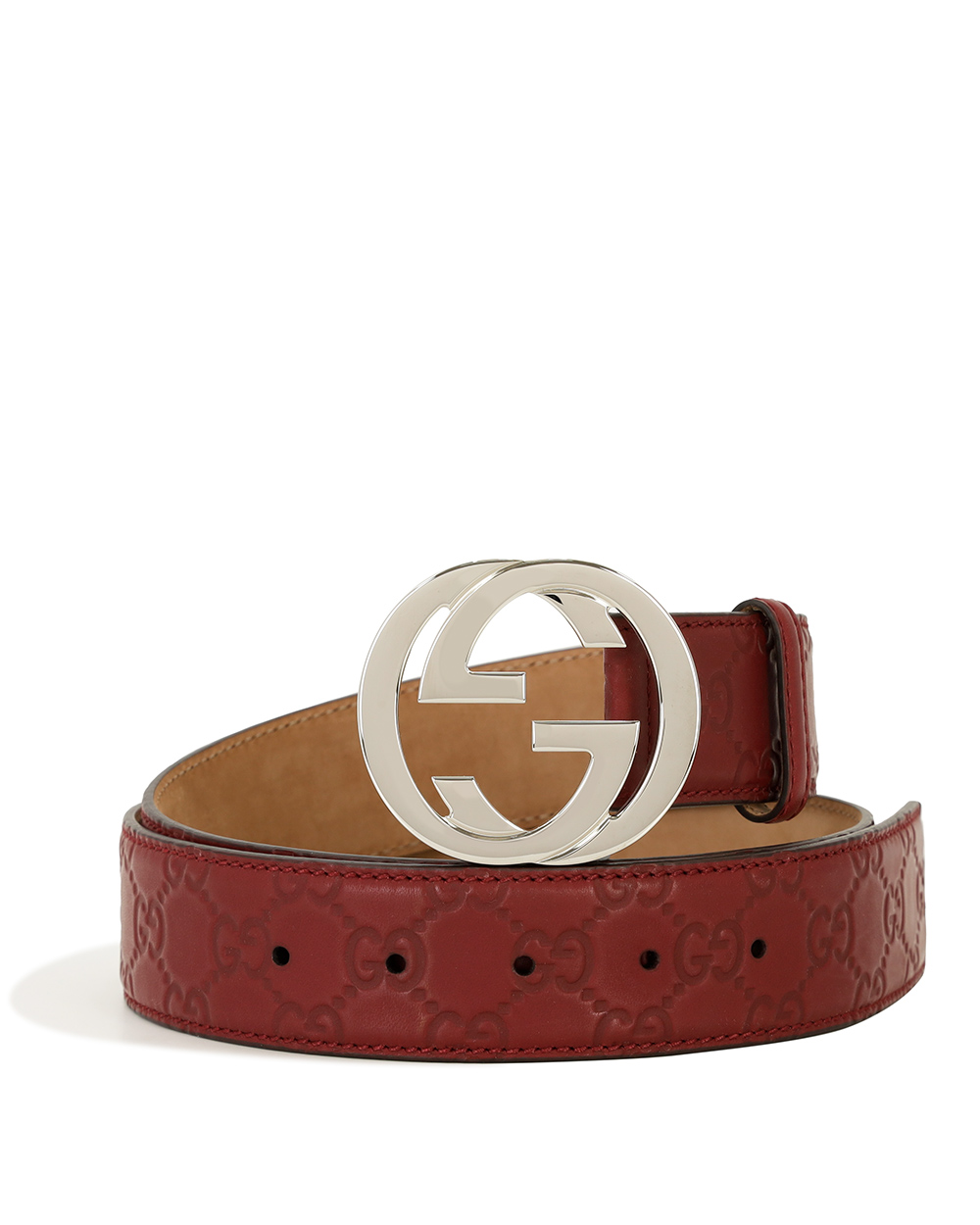 Double G Logo Plate Buckle Belt
