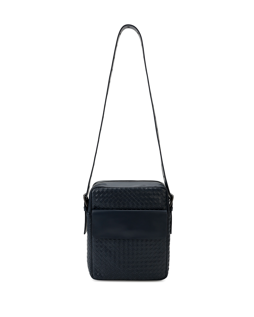 Woven Leather Crossbody Bag 1