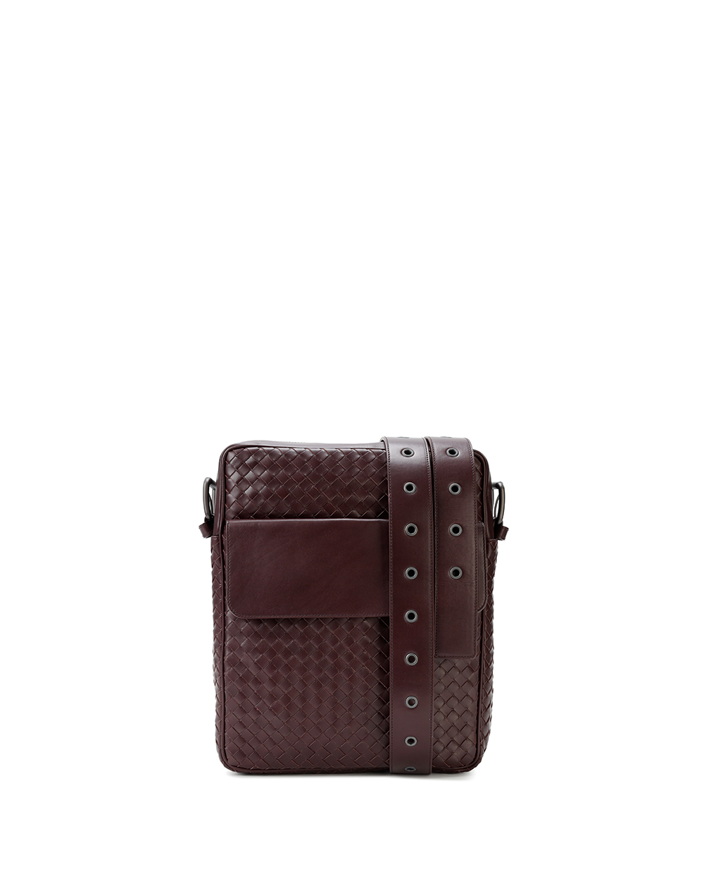 Woven Leather Cross-body Bag