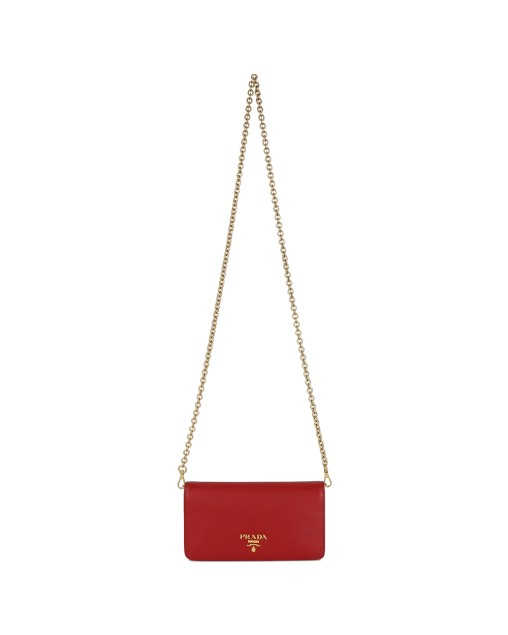 Saffiano Logo Plaque Bag