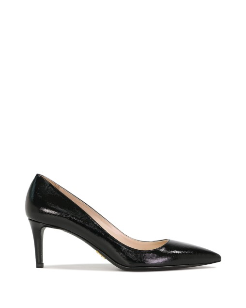 Saffiano Textured Patent Leather Pumps