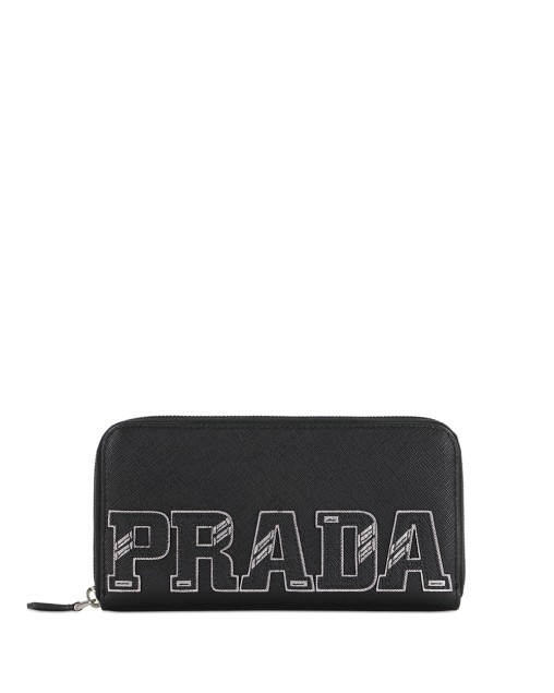Logo Zip Around Long Wallet