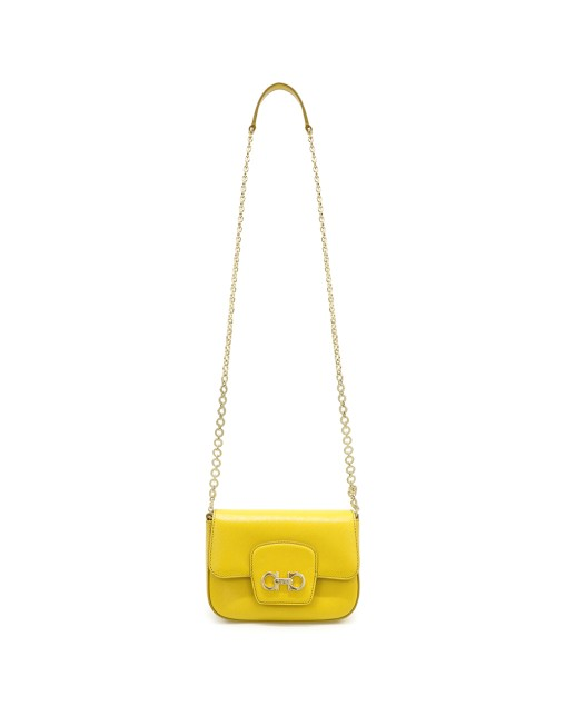 Saffiano Chain Crossbody Bag