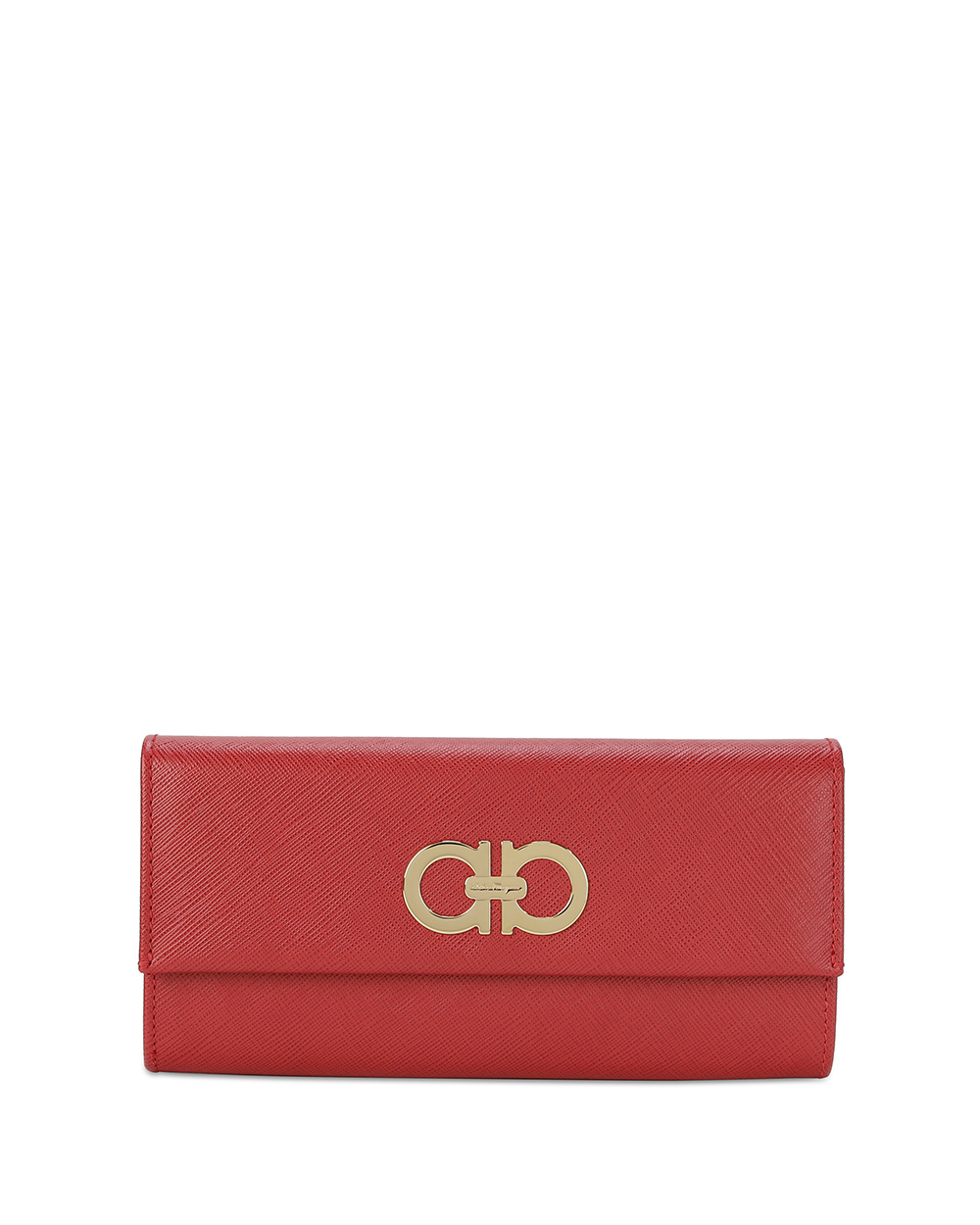 Logo Leather Long Wallet