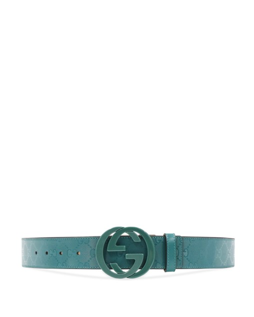 Double G Buckle Printed Plate Belt