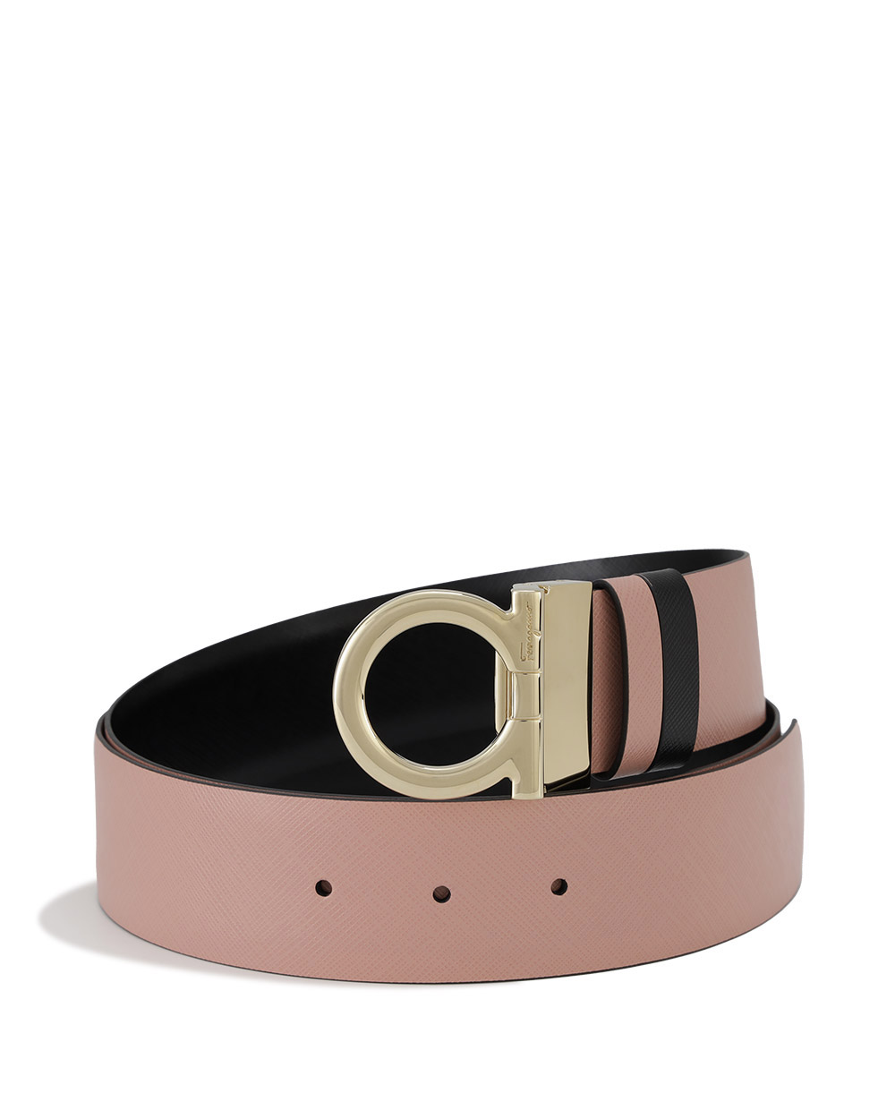Leather Plate Buckle Double-Sided Belt
