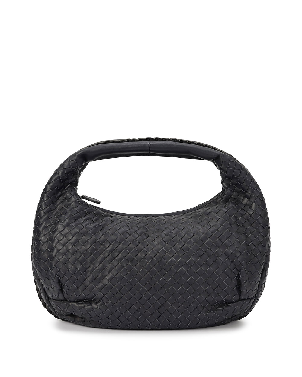 Intrecciato Lamb Leather Zip Shoulder Bag