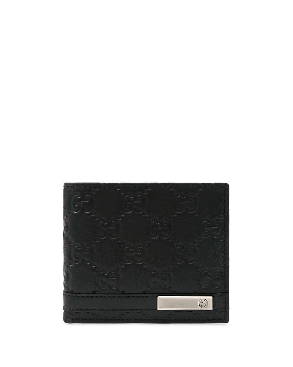 Metal Bar Guccissima Bi-fold Wallet