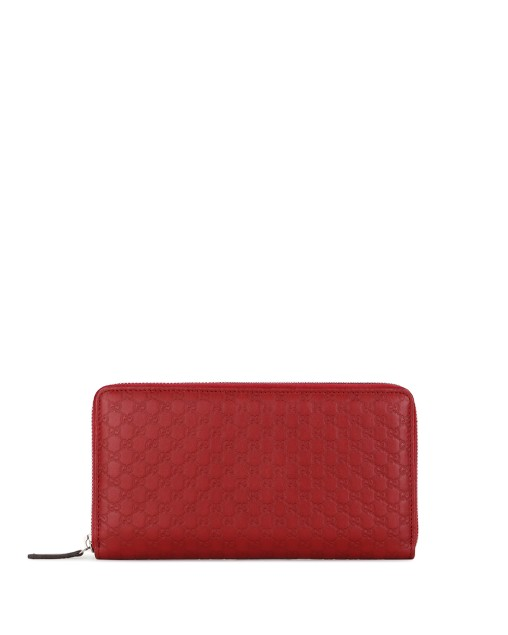 Embossed Zip Around Long Wallet