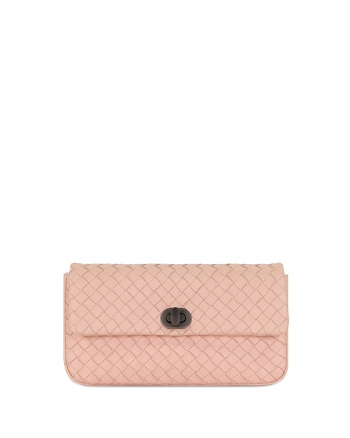 Woven Lamb Leather Clutch