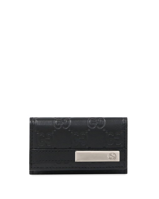 Double G Plate Leather 6 Key Case