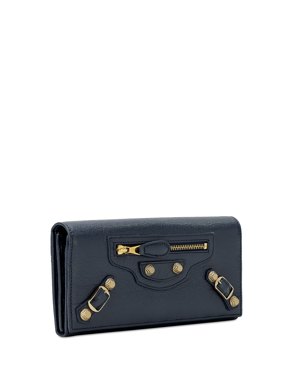 Button Leather Long Wallet 3