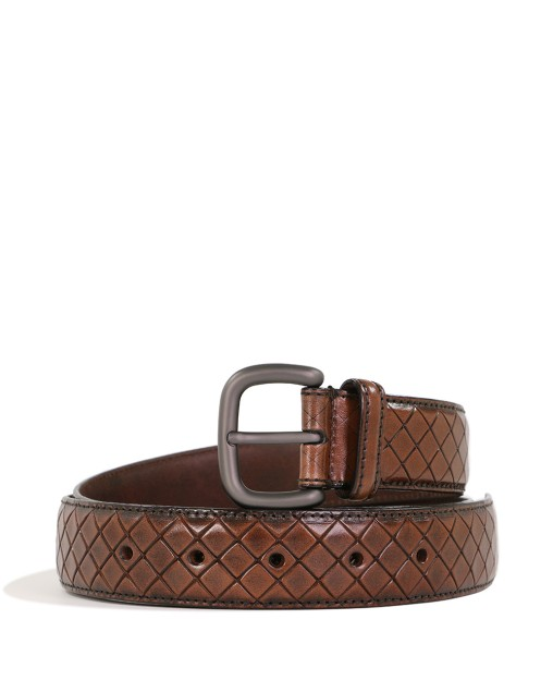 Ebano Calf Leather Belt