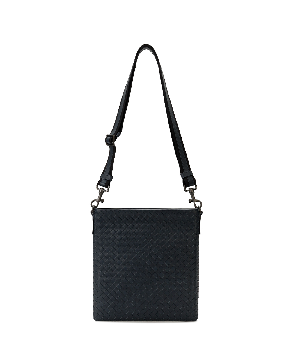 Woven Lamb Leather Shoulder Bag 1