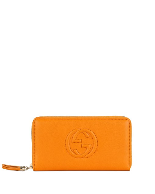 Soho Double G Pattern Zip Around Long Wallet