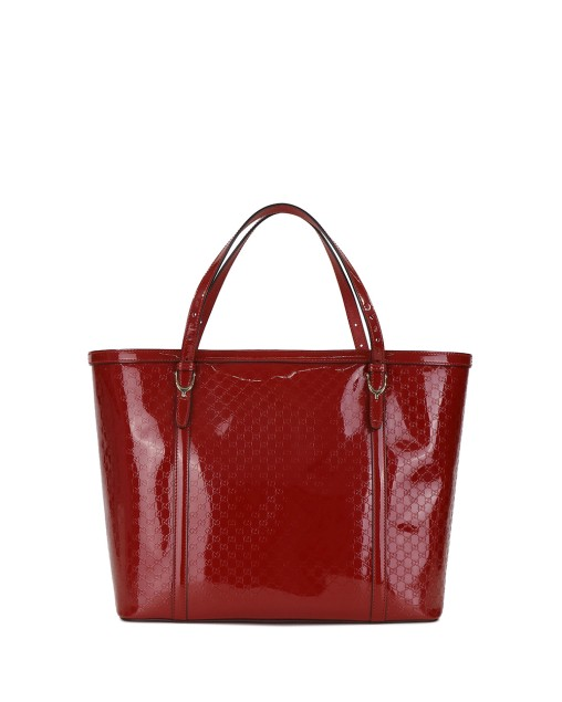 Double G Shadow Printed Patent Leather Handbag