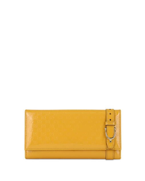 Double G Patent Leather Long Wallet