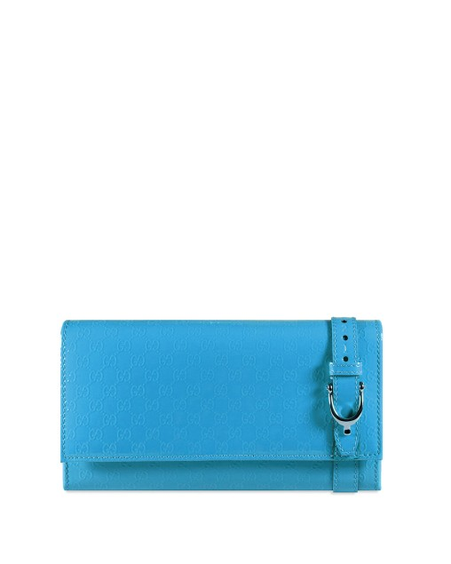 Patent leather long zipper wallet