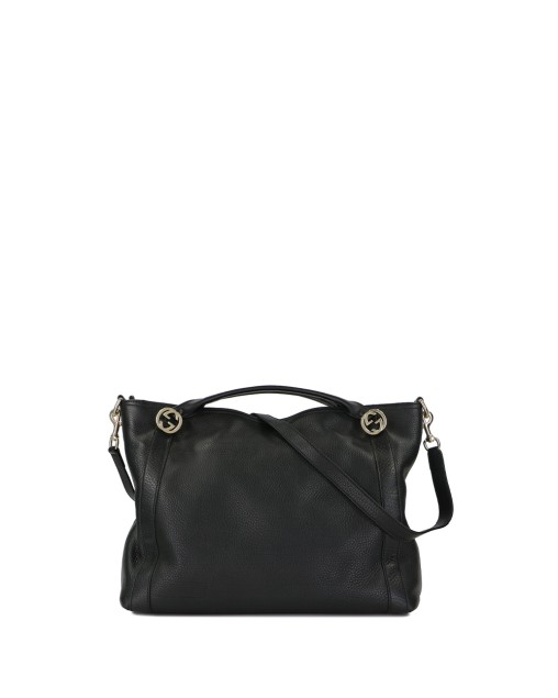 Leather GG Embossed Top Handle Bag