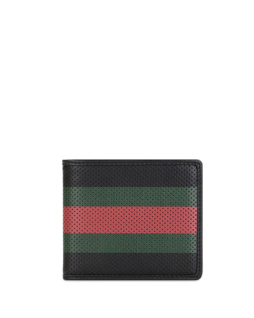 Striped Short Wallet