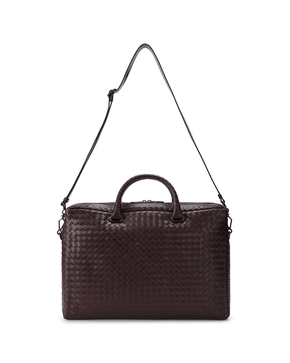 Woven Leather Briefcase 1