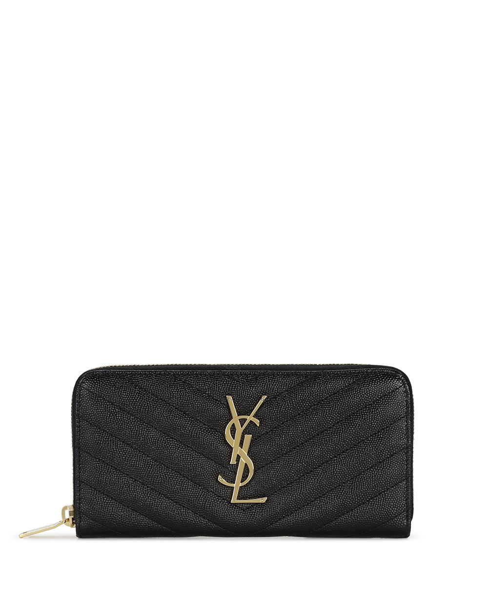 Monogram Zip Around Wallet in Grain de Poudre