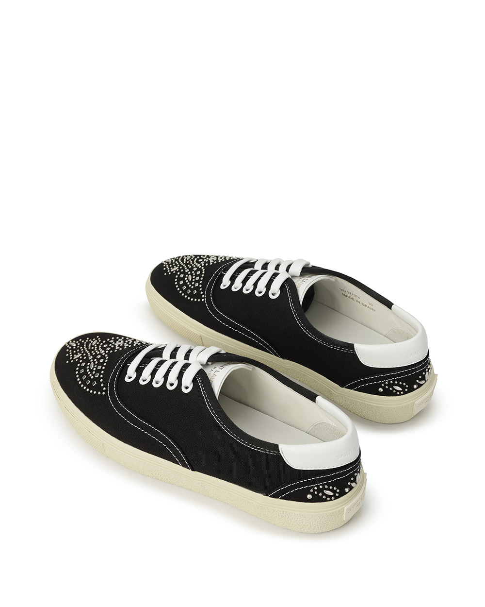 Studded Canvas Sneakers 2