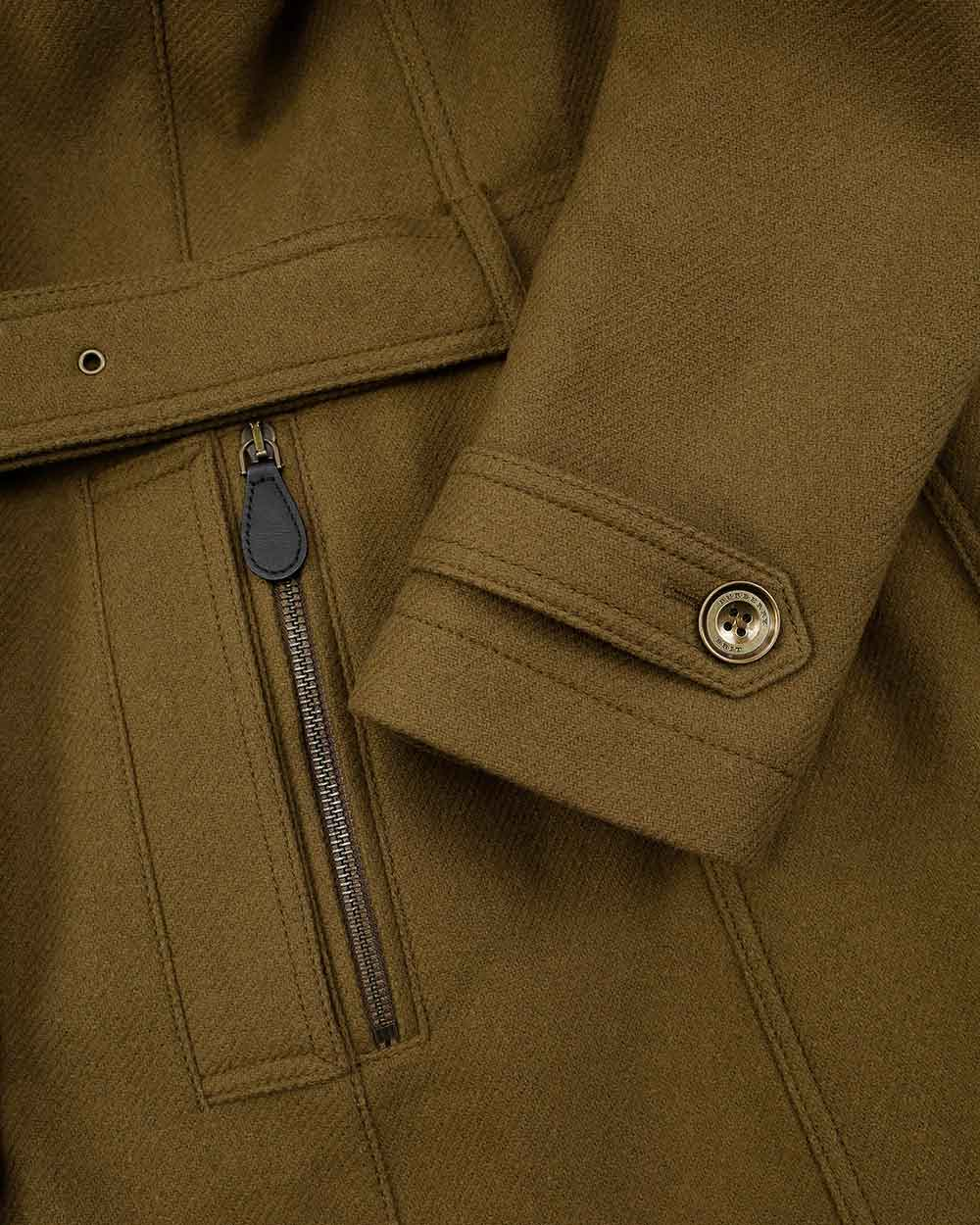 Double-Breasted Mid-Length Trench Coat 3