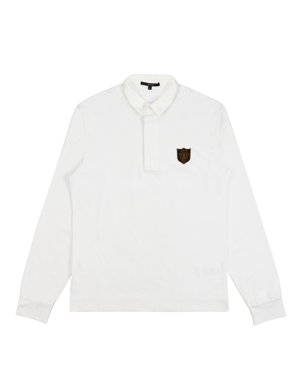 Cotton Long-Sleeves Polo Shirt