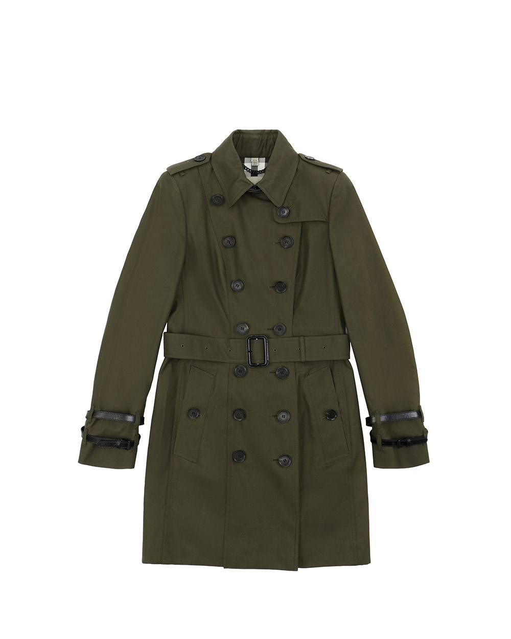 Double-Breasted Mid-Length Trench Coat