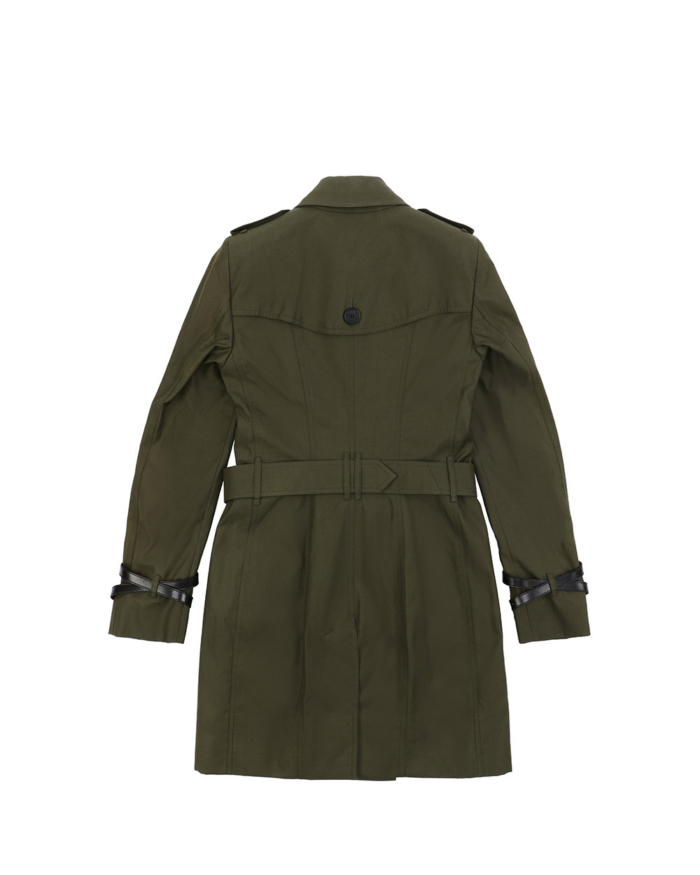 Double-Breasted Mid-Length Trench Coat 1