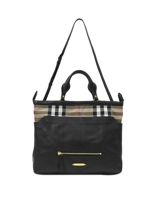 Calf Leather Classic Plaid Big Crush Tote