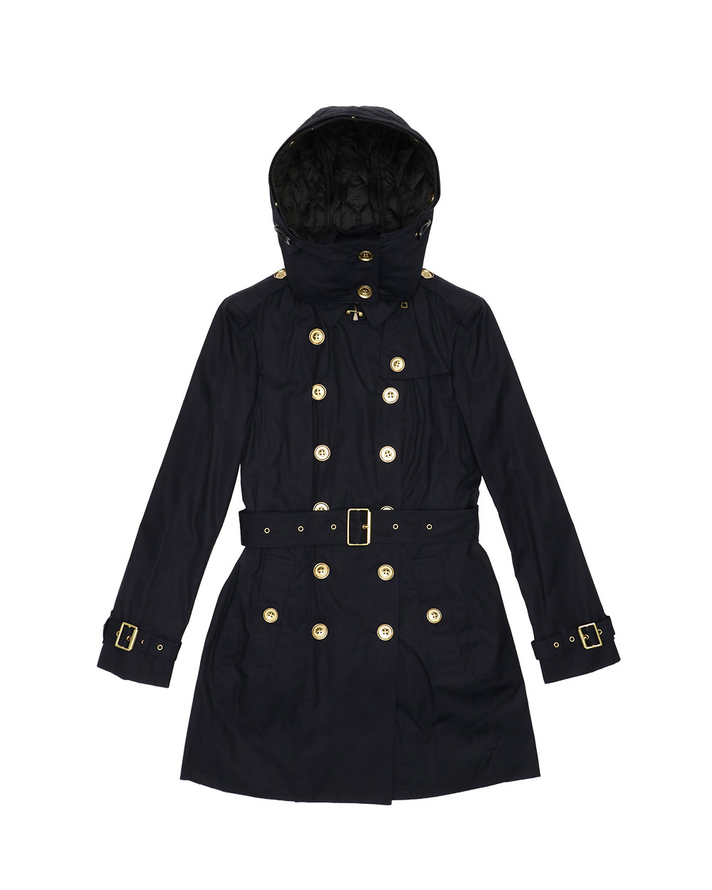 Mid-Length Double-Breasted Trench Coat