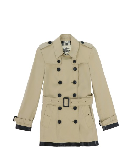 Mid-length Color Block Trench Coat