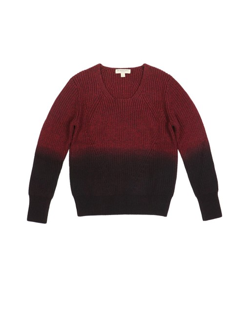 Gradient Wide Round-Neck Sweater
