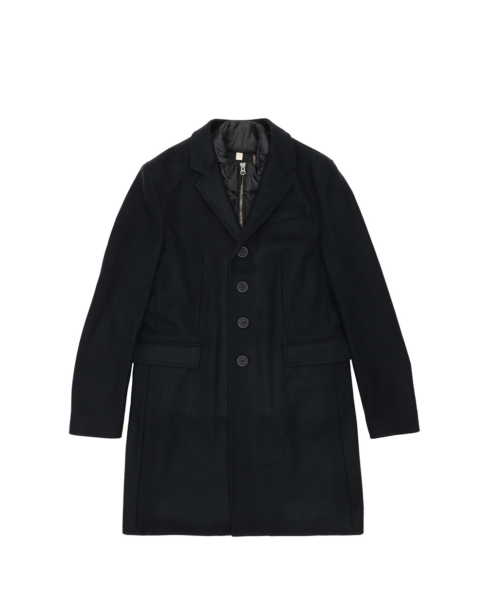 Mid-Length Single-Breasted Trench Coat