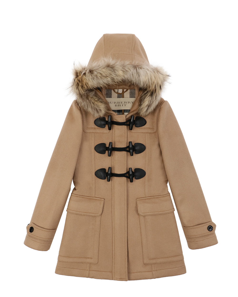 Wool Single-Breasted Mid-Length Trench Coat