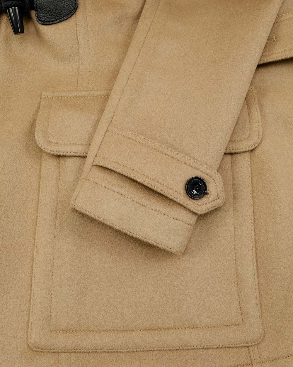 Wool Single-Breasted Mid-Length Trench Coat 3