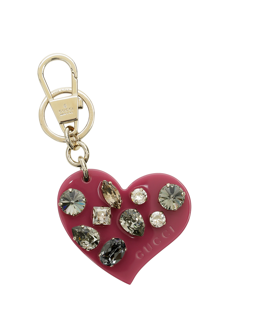 Heart Shaped Crystal Keychain