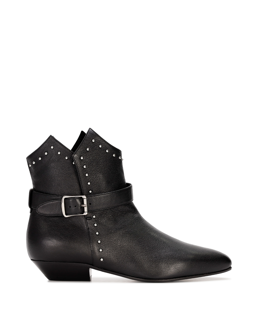 Rivet High Heel Ankle Boots