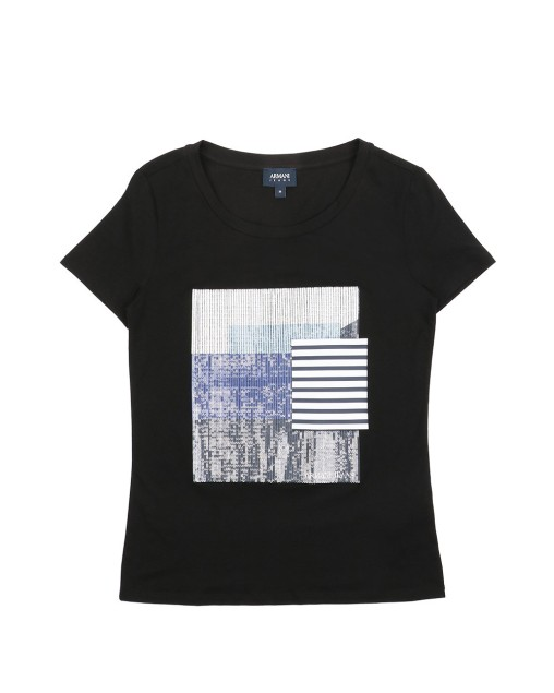Colorblock Round Neck Casual T-Shirt