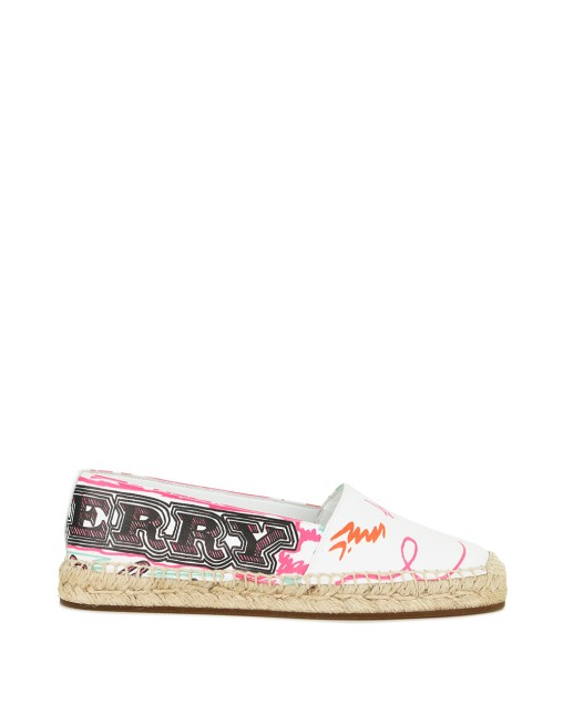 Doodle Printed Coated Cotton Espadrilles