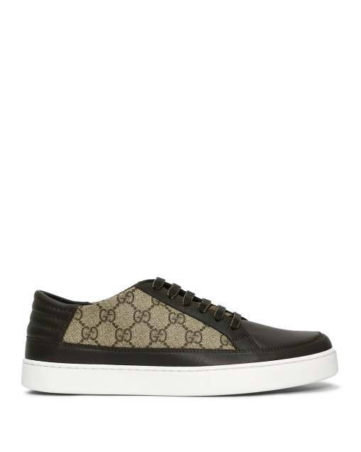 GG Signature Canvas and Leather Sneakers
