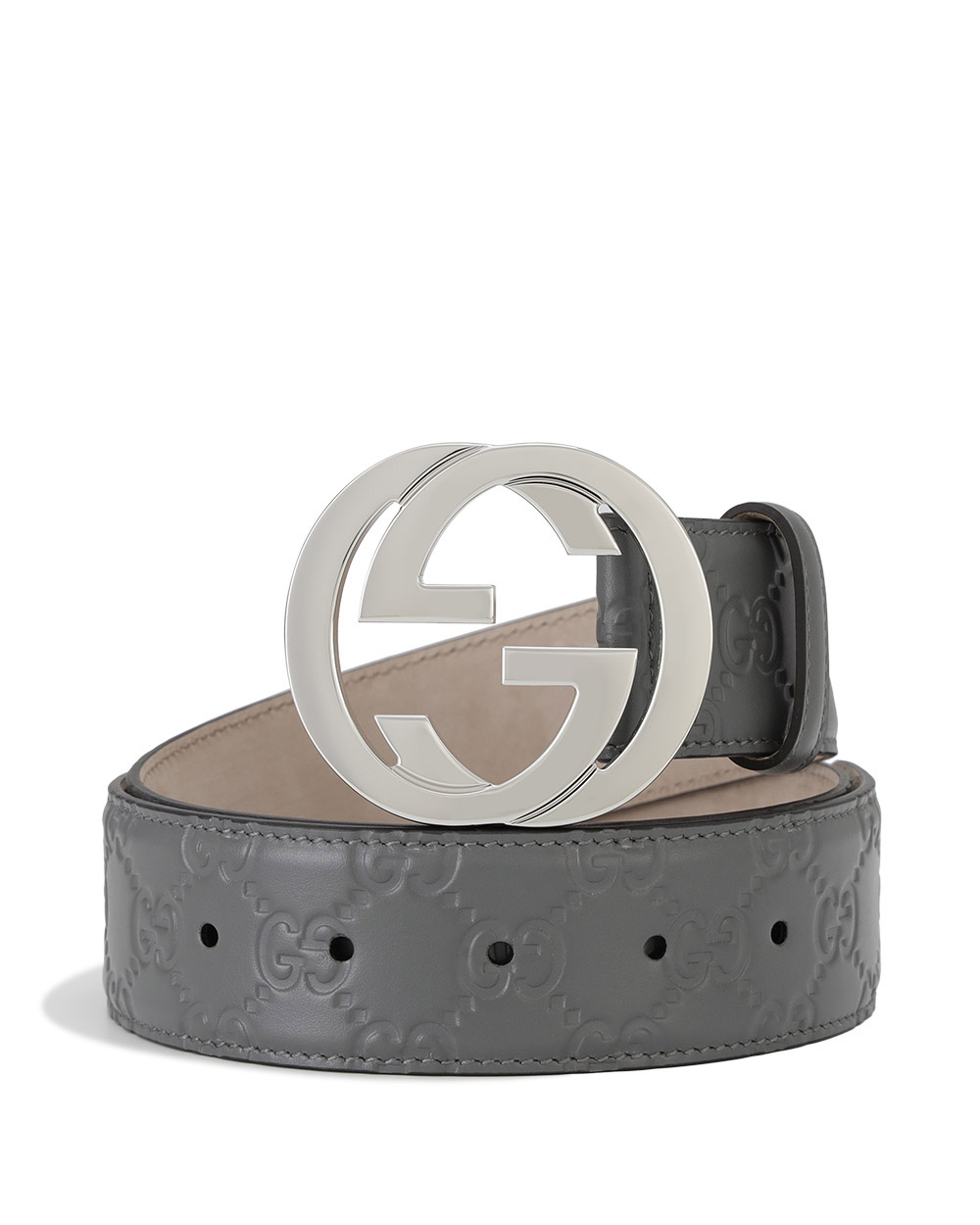 GG Signature Leather Belt