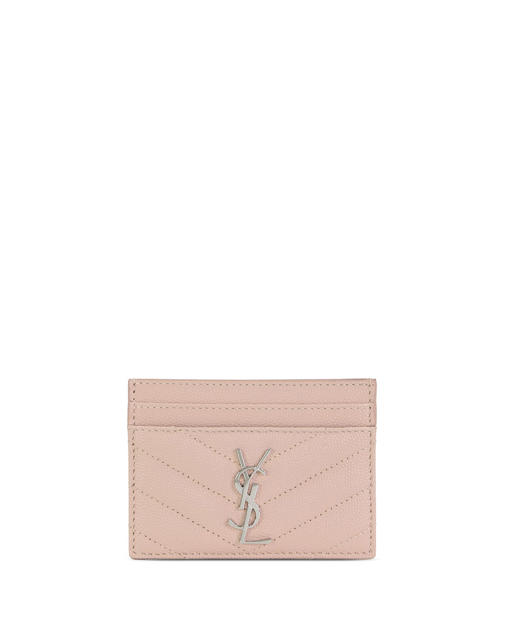 Monogram Quilted Grained Leather Cardholder