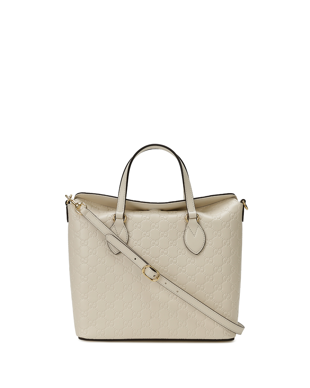 Signature Leather Top Handle Bag