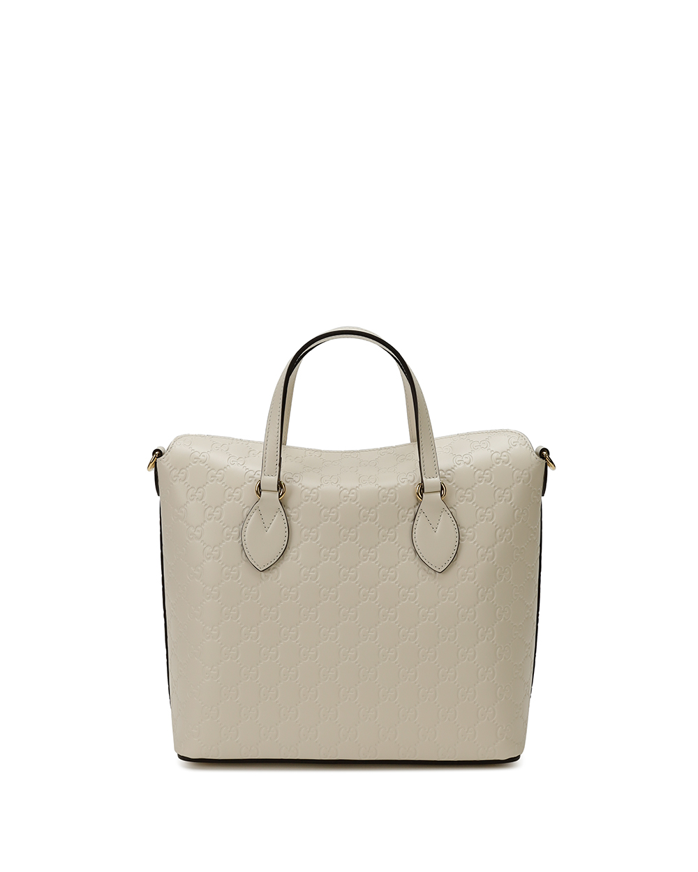 Signature Leather Top Handle Bag 3