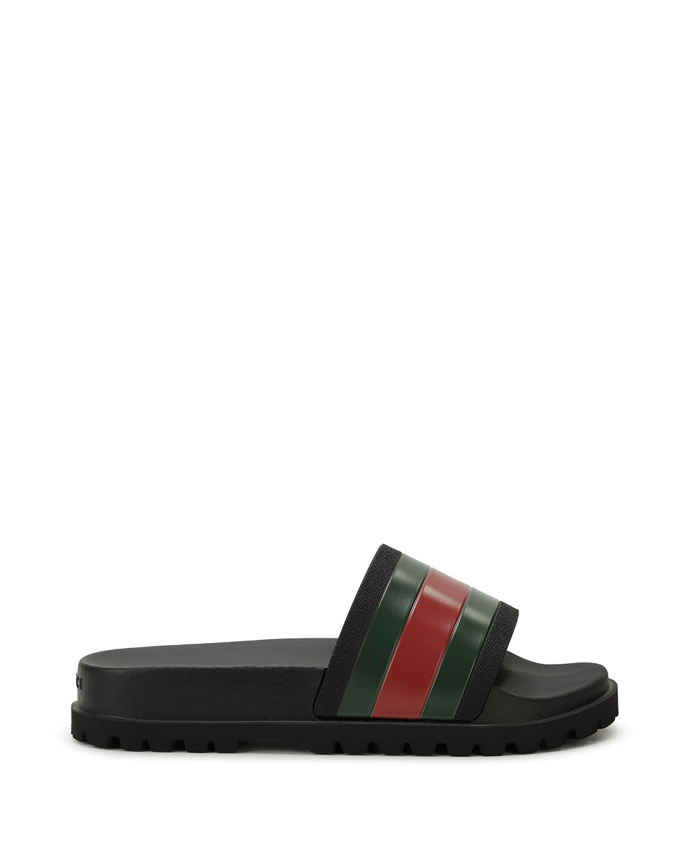 Web Rubber Slide Sandals