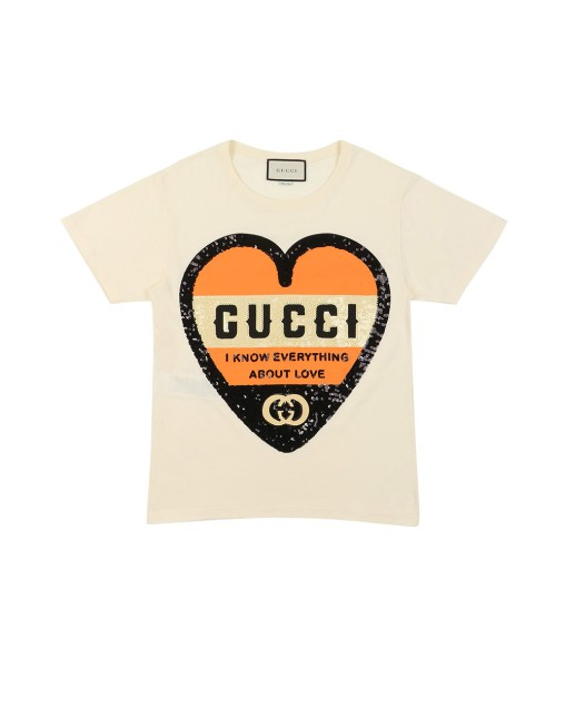 Sequinned Heart T-shirt