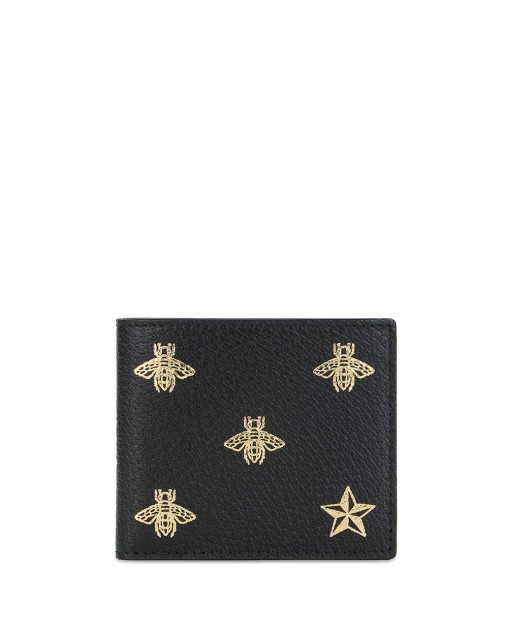 Bee Star Leather Bi-fold Wallet